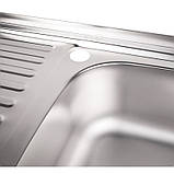 Кухонная мойка Lidz 5080-R Satin 0,8 мм (LIDZ5080RSAT8), фото 4