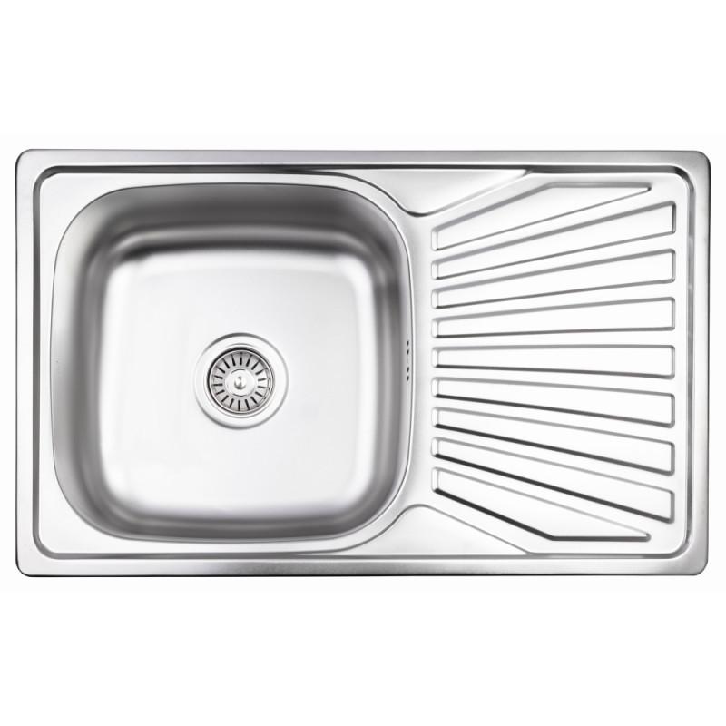Кухонная мойка Lidz 7848 Micro Decor 0,8 мм (LIDZ7848MDEC)