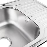 Кухонная мойка Lidz 7848 Micro Decor 0,8 мм (LIDZ7848MDEC), фото 4