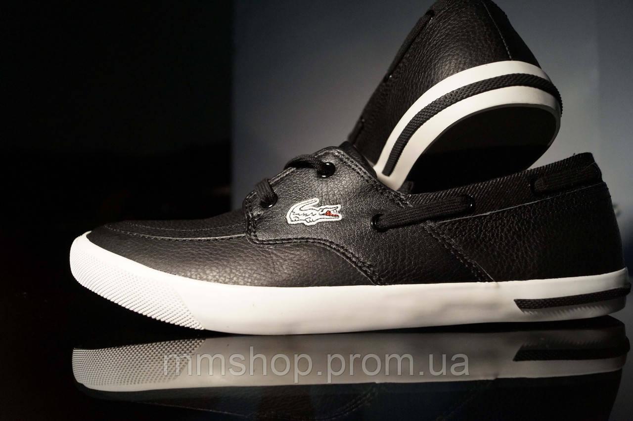 Мужские кроссовки чёрные Lacoste original, фото 1