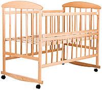 Детская кроватка Наталка ОСО с откидной боковиной ольха светлая