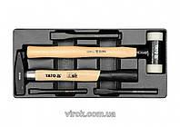 Вклад для инструментального шкафа YATO молотки 300 и 350 мм 2 шт и зубила 3 шт