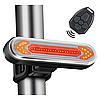 """Велосипедный габарит с указанием поворотов QCA2 """"STOP"""" (красный+желтый), micro USB, встроенный аккумулятор"""