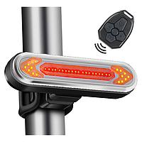 """Велосипедный габарит с указанием поворотов QCA2 """"STOP"""" (красный+желтый), micro USB, встроенный аккумулятор, фото 1"""