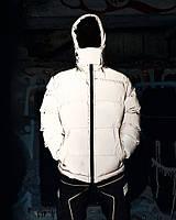 Зимняя мужская куртка Пушка Огонь Homie рефлективная серая