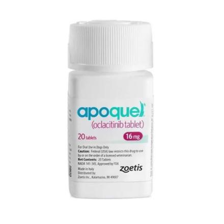 Апоквель 16 мг 20 таблеток. Препарат против аллергии для собак. Apoquel Zoetis США 10015834