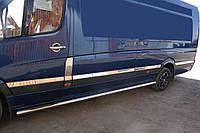 Молдинги на дверь Mercedes Sprinter 906 Omsaline екстралонг / Накладки на кузов Мерседес Бенц Спринтер