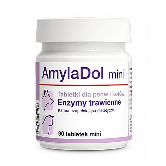 Кормовая добавка AmylaDol mini 90 с ферментами при нарушении пищеварения у собак и кошек Dolfos 1702-90 Польша