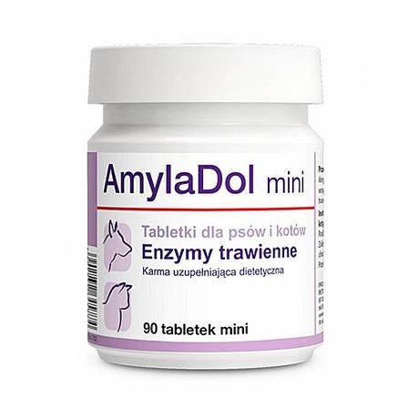 Кормовая добавка AmylaDol mini 90 с ферментами при нарушении пищеварения у собак и кошек Dolfos 1702-90 Польша, фото 2
