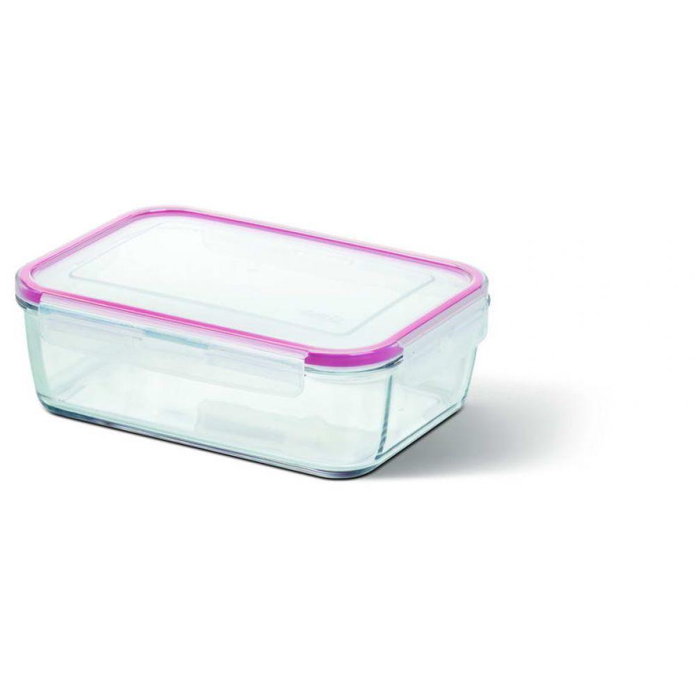 Прямоугольный стеклянный контейнер CLIP&CLOSE 0,39л