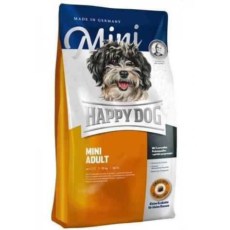 Mini Adult 4 кг Корм сухой для взрослых собак малых пород Супер-премиум класс (60002, Happy Dog, Хэппи Дог), фото 2