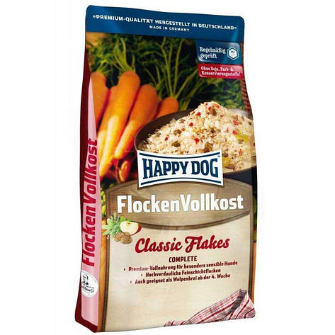 Flocken Vollkost 3 кг Корм для собак всех размеров и возрастов Премиум-класс (2166, Happy Dog, Хэппи Дог), фото 2