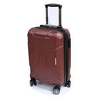 Малый чемодан поликарбонатный для ручной клади Airtex бордовый, фото 1
