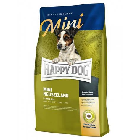 Mini Neuseeland 4 кг Корм для взрослых собак малых пород Cупер-премиум класс (60115, Happy Dog, Хэппи Дог), фото 2