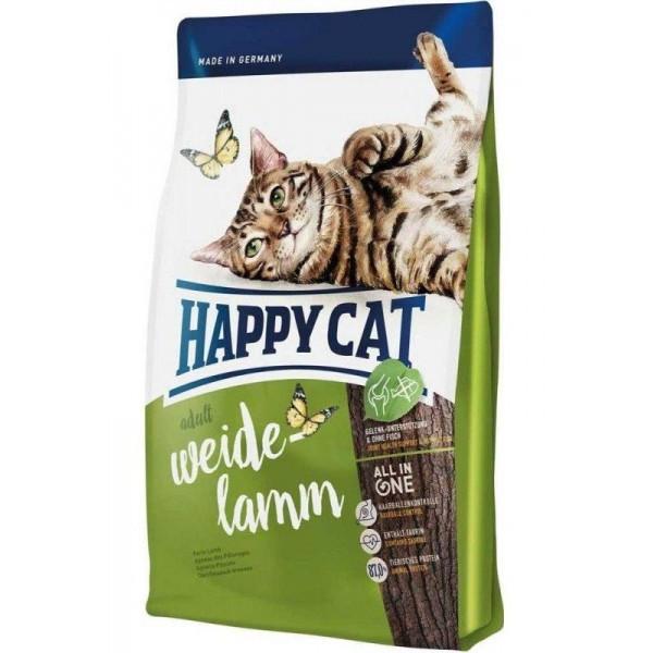 Adult Weide Lamm 4 кг Корм для взрослых кошек с ягнятиной Супер-премиум класс (70189, Happy Cat, Хэппи Кэт)