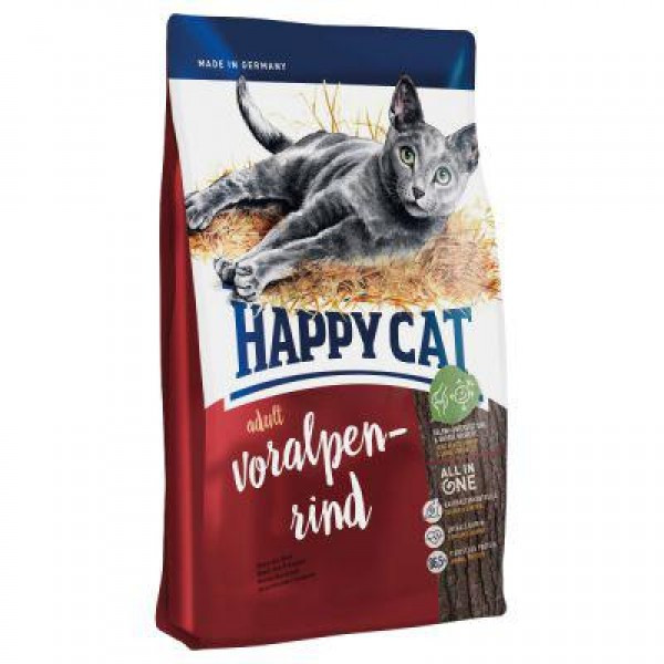 Adult Voralpen-Rind 10 кг Корм для взрослых кошек с говядиной Супер-премиум класс (70202 Happy Cat, Хэппи Кэт)