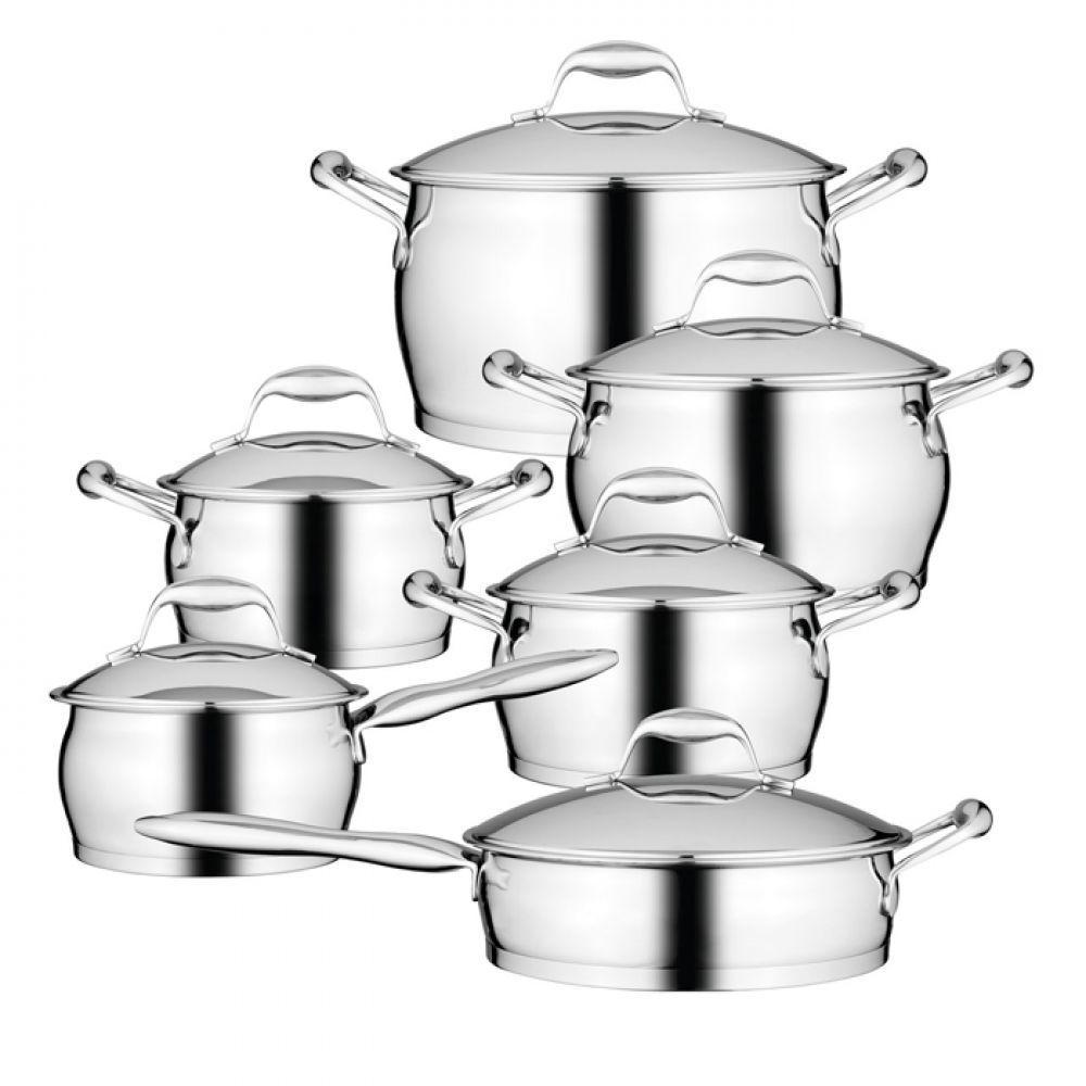 Набор посуды BergHOFF Essentials из нержавеющей стали с 3-х слойным дном из 12 предметов