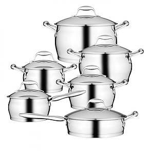 Набор посуды BergHOFF Essentials из нержавеющей стали с 3-х слойным дном из 12 предметов, фото 2