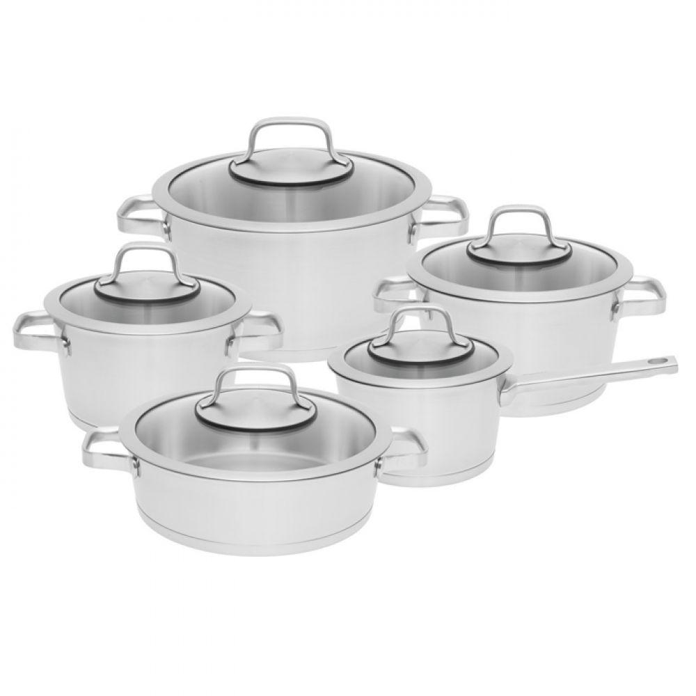 Набор посуды BergHOFF Essentials Manhattan из нержавеющей стали с 3-х слойным дном из 10 предметов