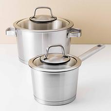 Набор посуды BergHOFF Essentials Manhattan из нержавеющей стали с 3-х слойным дном из 10 предметов, фото 3