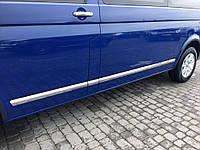 Volkswagen Т5 Хром молдинги из нержавейки на короткую базу OmsaLine 1 дверь / Накладки на кузов Фольксваген