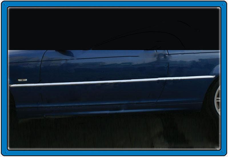 Хром на дверной молдинг (нерж.) BMW 3 серия E-46 1998-2006 гг. / Накладки на двери БМВ 3 серия E-46