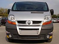 Передняя губа (под покраску) Nissan Primastar 2002-2014 гг. / Тюнинг переднего бампера Ниссан Примастар