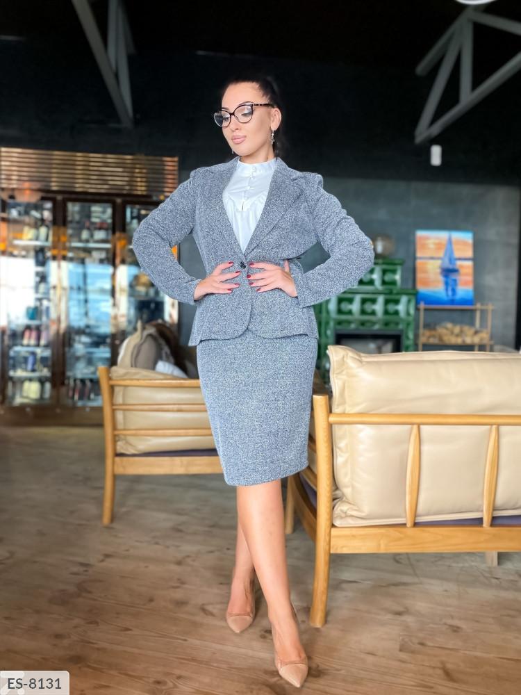 Костюм двойка (юбка+пиджак) в больших размерах (DG-р41526)
