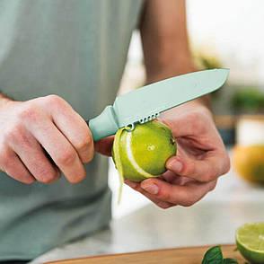 Нож для чистки овощей и цедры LEO с покрытием, салатовый, 11 см, фото 2