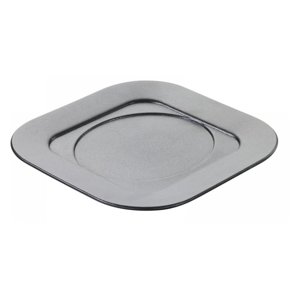 Подставка квадратная под кокотницу, черная, 17 х 175 х 1,5 см