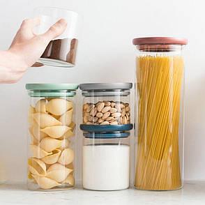 Емкость для хранения спагетти, стеклянная, 1,9 л, фото 2