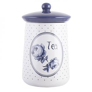 Емкость для чая Vintage Indigo, с крышкой, керамика, 16 х 9 см, фото 2