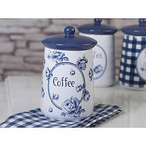 Емкость для кофе Vintage Indigo, с крышкой, керамика, 16 х 9 см, фото 2