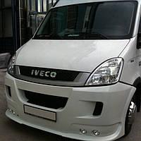 Накладка на передний бампер (под покраску) Iveco Daily 2006-2014 гг. / Тюнинг переднего бампера Ивеко