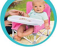 Складной тканевый стол для кормления baby seat РОЗОВЫЙ | Стульчик для кормления | Детский столик для еды