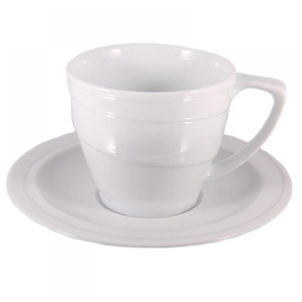 Чашка Hotel, фарфоровий, з блюдцем, 130 мл