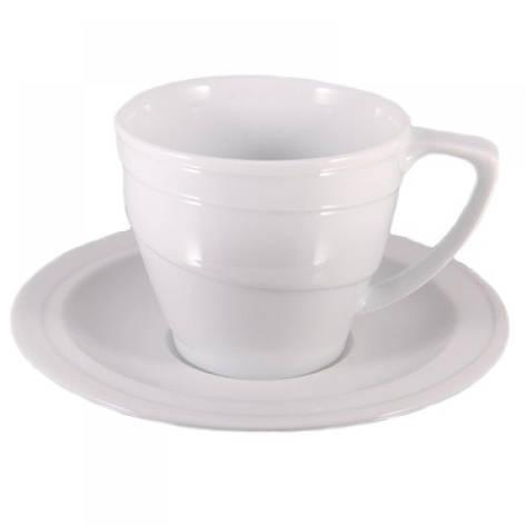 Чашка Hotel, фарфоровая, с блюдцем, 130 мл, фото 2