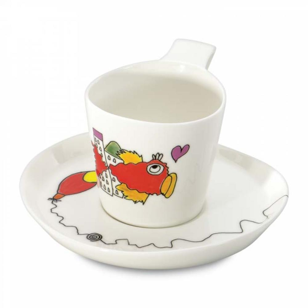 Чашка для чаю Eclipse з блюдцем, 240 мл (2 шт.)