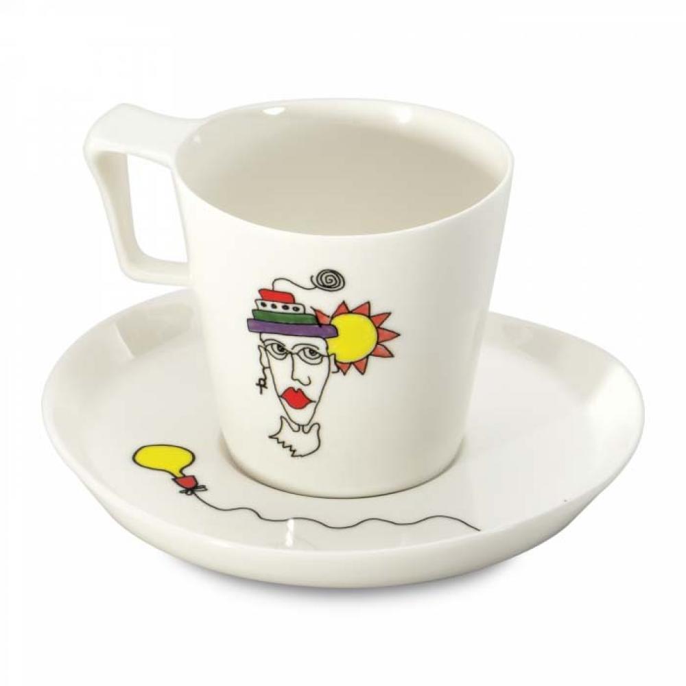 Чашка для завтрака Eclipse с блюдцем,  400 мл (2 шт.)
