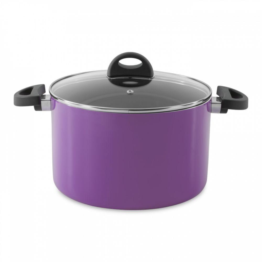 Кастрюля Eclipse с крышкой, фиолетовая, диам. 24 см, 6,6 л