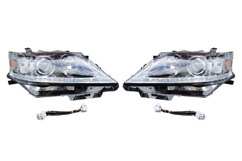 Передняя оптика (2 шт, рестайлинг) Lexus RX 2009-2015 гг. / Передние фары Лексус РХ