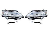 Передняя оптика (2 шт, рестайлинг) Lexus RX 2009-2015 гг. / Передние фары Лексус РХ, фото 1