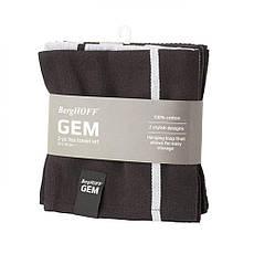 Набор кухонных полотенец GEM, темные, хлопок, 2 шт., фото 3