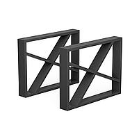 Опора для журнального стола из металла 600×80mm, H=450mm