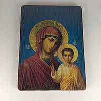 Дерев'яна ікона на підставці 7*10см Б. Казанська
