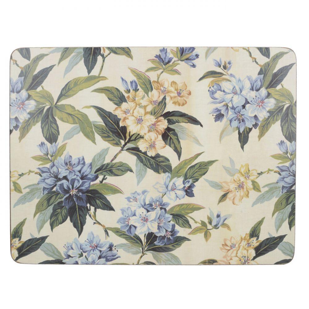 Набор пробковых подставок под тарелки Traditional Floral, 30 x 23 см, 6 шт.