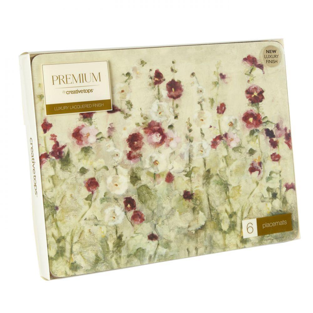 Набор пробковых подставок под тарелки Wild Field Poppies, 30 x 23 см, 6 шт.