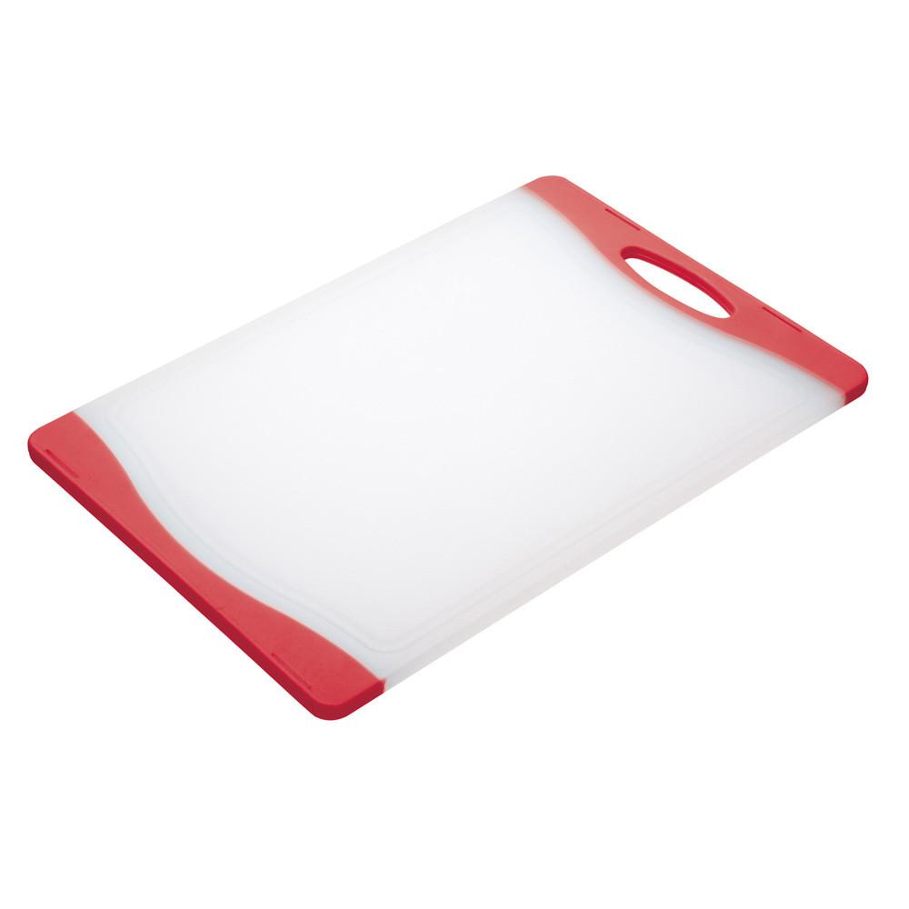 Доска кухонная Colourworks, пластик, красная, 20 x 36,5 см