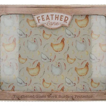 Доска кухонная FEATHER LANE, стеклянная, 40 х 30 см, фото 2