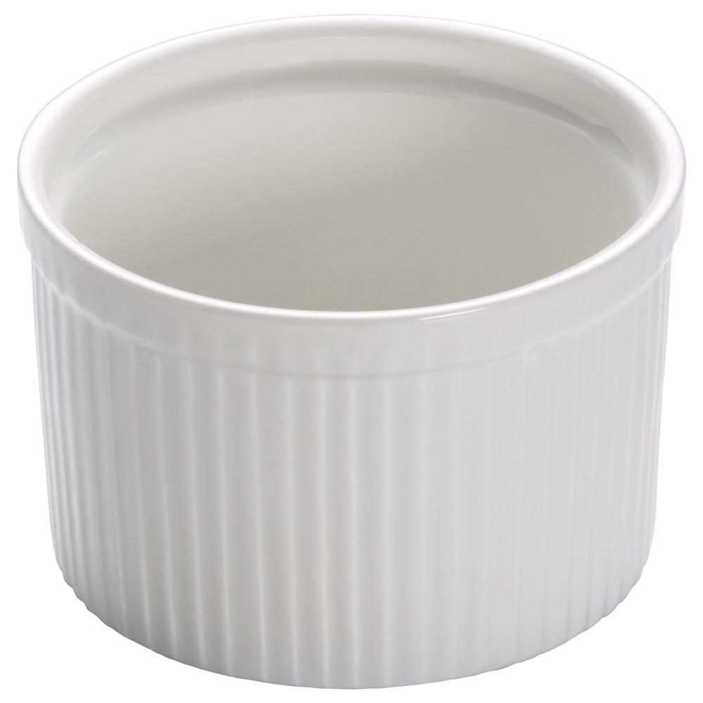 Форма для выпечки WHITE BASICS KITCHEN фарфоровая, круглая, 10 х 6,5 см